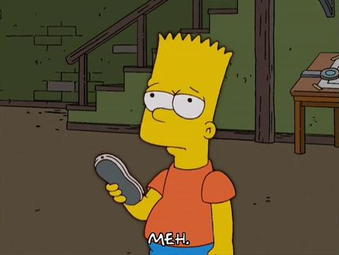 Bart Simpson in a MEH mood