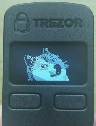 Trezor One Doge Homescreen