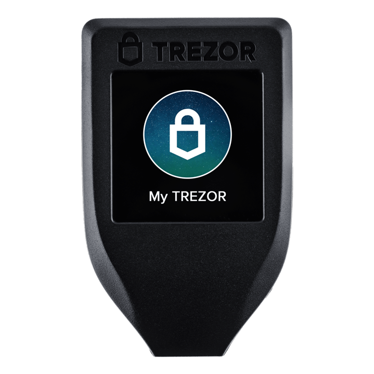 Trezor Model T default homescreen