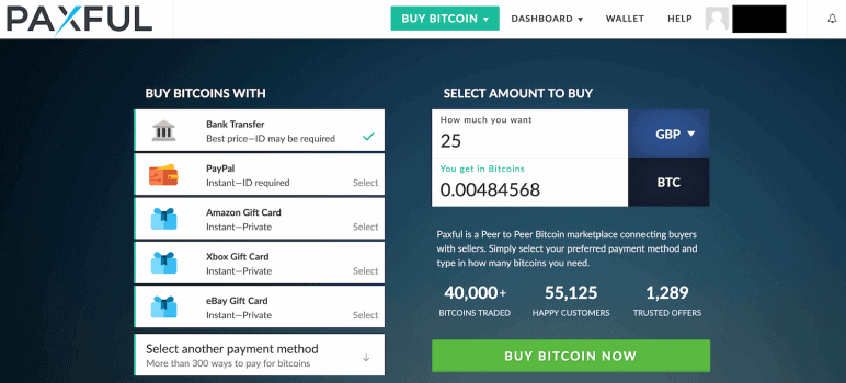 Paxful Homepage